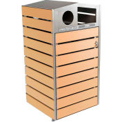Commercial Zone 48G Woodview™ Series Waste &Recycler Container,Mixed Recyclables &Trash -736772