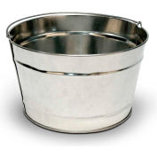 Commercial Zone 16-Quart Pail, Galvanized Steel