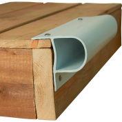 "Dock Edge Single ""P"" Profile, 32 ft. (4x8' lengths), White - DE1001F"