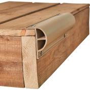 "Dock Edge Heavy ""P"" Profile, 24 ft. (3x8' lengths), Beige - DE1201F"