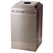 Rubbermaid® Silhouette DCR24C Recycling Receptacle w/Can & Bottle Opening, 29 Gal - Stainless