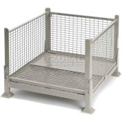 """Davco KDW-01 Collapsible Wire Mesh Steel Container 40-1/2""""x34-1/2""""x26"""" Zinc-Galv"""