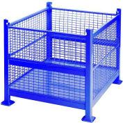 "Davco Wire Mesh Steel Container R2GW-01 - 40-1/2""x34-1/2""x32"" 2 Gates Blue"