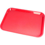 """Cambro 14"""" x 18"""" Fast Food Trays, 12PK Red 1418FF-163"""