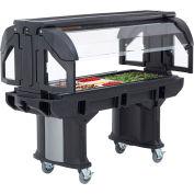 Cambro 6 Ft. Portable Food / Salad Bar with Casters Black VBR6-110