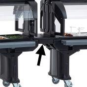 Cambro Straight Food Bar Connector - Bar to Bar Black VBRC-110
