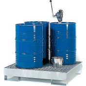 Denios K17-1103 4 Drum Steel Spill Pallet - Galvanized Steel