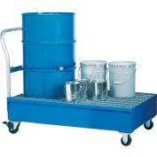 Denios K17-3107 2 Drum Spill Containment Cart - 66 Gallon Capacity