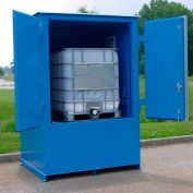 "Denios IBC Locker 8' 3""W x 5' 10""D x 8' 4""H, Non-Combustible Outdoor Storage Building For 1 IBC"