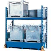 Denios K34-4610 4 IBC Steel Storage Rack with Sump