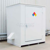 "Denios N-Series 8'W x 5' 10""D x 8' 2""H, Non-Combustible Outdoor Storage Building For 4 Drums"