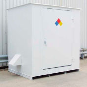"Denios N-Series 9' 10""W x 5' 10""D x 8' 2""H, Non-Combustible Outdoor Storage Building For 6 Drums"