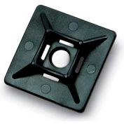 """Del City 9871 4-way Adhesive Mtg Base 1-1/8"""" sq- UV Black, 100 Pieces"""