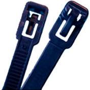 "Releasable Cable Ties- UV Black- 7-1/2"", 100 Pieces"