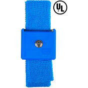 Desco Adjustable Elastic Wrist Strap 09028 - Blue