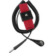 Desco Economy 09039 Adjustable Elastic Wrist Strap Kit 6 Ft Coil Cord - Black