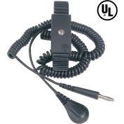 Desco Adjustable Metal Wrist Strap 09085 with 6 Ft Coil Cord - Black