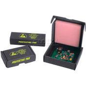 "Protektive Pak Small ESD Component Shipping & Storage Boxes, 3-3/4""L x 3-3/4""W x 1""H, Black - Pkg Qty 5"
