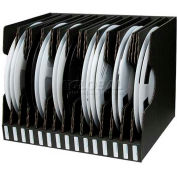 "Protektive Pak 37564 Conductive Reel Storage Container, 15 Slots, 17-1/2""L x 13-13/16""W x 13-1/4""H"