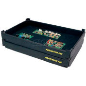 """Protektive Pak ESD Stackable and Nesting Tek-Tray, 23-5/8""""L x 17-3/4""""W x 2-7/8""""H"""