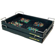 "Protektive Pak ESD Stackable and Nesting Wire Corner Super Tek-Tray, 19""L x 12-3/8""W x 2""H"