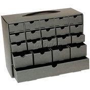 "Protektive Pak ESD Tek-Cabinet, 20 Drawers, 6""W x 13-3/16""D x 10""H"