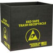 Protektive Pak 9 Gallon Anti-Static Trash Receptacle, Box Only, Black - 37811