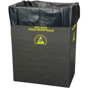 Protektive Pak 2.00 Mil Static Dissipative Trash Can Liner, 55 Gallon, Black, Pkg. Qty. 50 - 37821