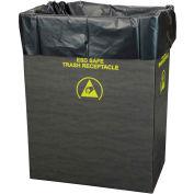 2.00 Mil Static Dissipative Trash Can Liner, 55 Gallon, Black, Pkg. Qty. 50 - 37821