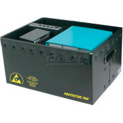 "Protektive Pak 39116 Plastek ESD Storage Container, 19-3/8""L x 13-3/8""W x 17-5/16""H"