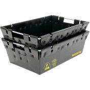 "Protektive Pak 39140 Plastek Conductive Nesting Tote, 18""L x 12""W x 6""H"