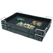 "Plastek ESD Stackable and Nesting Wire Corner Super Tek-Tray, 23-3/4""L x 18-1/2""W x 2-5/16""H"