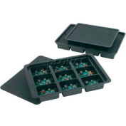 "Protektive Pak Conductive Kitting Tray, 12 Cells, 10-1/2""L x 8-3/4""W x 1-1/2""H"