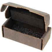 "Protektive Pak 39508 ESD Component Shipping Storage Box w/Black Foam, 4""L x 1-7/16""W x 1-1/8""H - Pkg Qty 10"