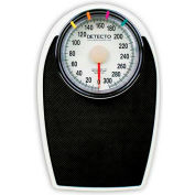 "Detecto D-1130 Bathroom Scale 330lb x 1lb Low Profile 11-1/4"" x 11-34"" Platform W/ Non-Skid Mat"