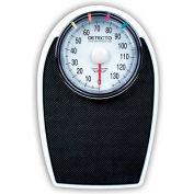 "Detecto D-1130K Bathroom Scale 330lb x 1lb Low Profile 11-1/4"" x 11-34"" Platform W/ Non-Skid Mat"