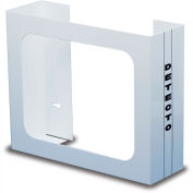"Detecto® Double Glove Box Holder, White Powder Coated Steel, 10""H x 12""W x 4""D"
