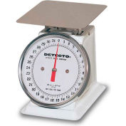 "Detecto PT-2 Top Load Scale 32 x 1/4oz W/ Enamel Finish, 6"" Fixed Dial, 5-3/4"" Square Platform"