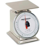 "Detecto PT-5-SR Top Load Scale 5lb x 1/2oz, Stainless W/ 6"" Rotating Dial, 5-3/4"" Square Platform"