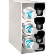 Dispense-Rite® Countertop Left 3 Cup Dispensing Cabinet w/Organizers - SS