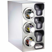 Dispense-Rite® Countertop SS Left 3 Cup Dispensing Cabinet w/Organizers