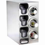 Dispense-Rite® Countertop SS Right 3 Cup Dispensing Cabinet w/Organizers