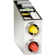 Dispense-Rite® Countertop SS 2 Cup Dispense Cabinet w/Lid & Straw Organizer