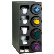 Dispense-Rite® Upright Rt 4 Cup Dispensing Cabinet w/Lid, Straw Organizer