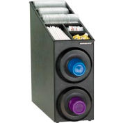 Dispense-Rite® Upright 2 Cup Dispensing Cabinet w/Lid & Straw Organizer