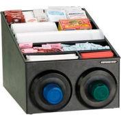 Dispense-Rite® Countertop 2 Cup Dispensing Cabinet w/Lid & Straw Organizer