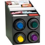 Dispense-Rite® Countertop 4 Cup Dispensing Cabinet w/Lid & Straw Organizer