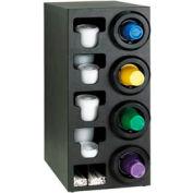 Dispense-Rite® Upright Right 4 Cup Dispenser w/Lid & Straw Organizer