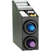 Dispense-Rite® Upright 2 Tier Cup Dispense Cabinet w/Lid & Straw Organizer