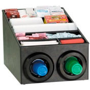 Dispense-Rite® Countertop Cup Dispensing Cabinet w/Lid & Straw Organizer